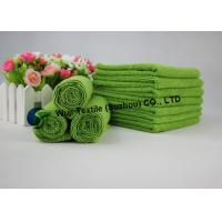 100% Polyester Microfiber Green Bath Towels , Durable for Bathroom Manufactures