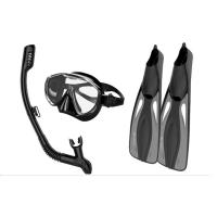 Impact Resistant Snorkel Mask And Fins Set With Dry Top Technology Manufactures