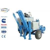 2.5km/H Electrical Cable Pulling Equipment , 4800kg Hydraulic Cable Puller Manufactures