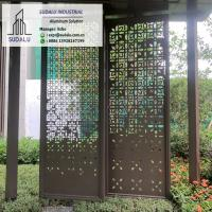 Custom Design 1-3mm Aluminum Perforated Panel for Patio Garden Decoration Powder Coating Manufactures