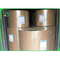 Eco Friendly Kraft Paper Jumbo Roll 120gsm Customized Size For Fast Food Wrapping Manufactures