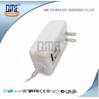 White 2PIN AC DC Power Adapter , Wall Mount Power Adapter For Home Appliances Manufactures