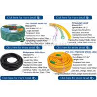Transparent PVC Spiral Pipe Plastic Hose With Spring Steel Wire Reinforcement Manufactures