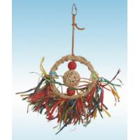 natural vine parrot toys 10 inches raffia grass circle for cockatiel conure Manufactures