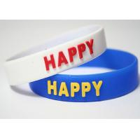 China Anniversary Gift Personalized Silicone Bracelets Custom Silicone Bands on sale