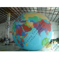 Durable Huge Earth Balloons Globe , Inflatable Helium Filled Balloons Manufactures