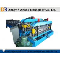 380V 50Hz Steel Tile Roll Forming Machine with PLC Compture Control System / Cr12mov Blade Manufactures