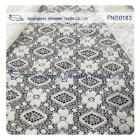Elastic Lace Fabric of Spandex & Nylon with Rhombic Little Flower Pattern Manufactures