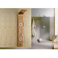 5 Way Massage Jets Bath Shower Panels , Waterfall Shower Panel Gold Painting ROVATE Manufactures