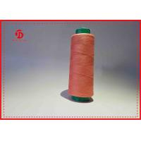 China Colorful Dyed Polyester Sewing Thread Heavy Duty Ring Spun / TFO Twist wholesale