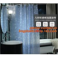 Mould Proof Waterproof white and black trellis design pvc custom bath curtain printed shower curtain, High quality Polye Manufactures