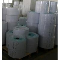 customized Printed direct thermal self adhesive label sticker paper material jumbo roll Manufactures