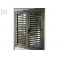 Fixed Ventilation Aluminium Louvre Windows With Blinds Rainproof Manufactures