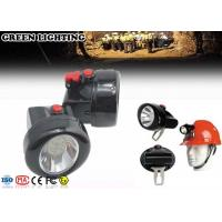 China IP68 1W Rechargeable LED Headlamp 2.8Ah Battery 4000 Lux Brightness on sale