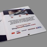 Small Digital Flip Book Video / Promotional Video Brochure CMYK Printing Manufactures