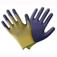 China Breathable Latex Dipped Work Gloves Easy Slip On / Off Fit For Material Handling on sale