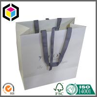 Creative Ribbon Gift Paper Bag; Silver Logo Small Recyclable Kraft Paper Bag Manufactures