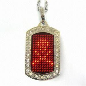 China Led image sign/pet necklace on sale