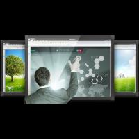 Smart Electronic Interactive Whiteboard With ISO9001 For Business Manufactures