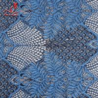 Embroidered Voile Lace Fabric For Wedding Dresses Cricking Color Fastness Manufactures
