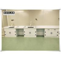 Chemical Lab Furniture Polypropylene Countertop With PP Drip Rack And Water Outlet Manufactures