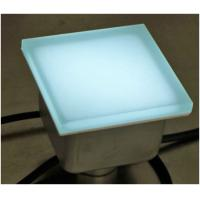 CE RoHS Waterproof IP67 Garden Decoration Frosted With Glass LED Brick Paver Manufactures