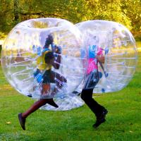 China inflatable giant wubble adult size human clear glass bubble body bumper bubble knocker ball soccer football suit for sal on sale