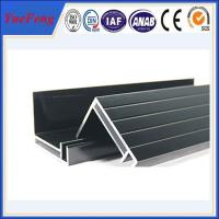 supply aluminum angle extrusion, high quality solar panels supporting rod aluminium profil Manufactures