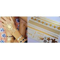 China Metallic foil jewelry temporary tattoo on sale