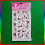 Glitter Powder Temporary Tattoo Sticker/tattoo made in China Manufactures