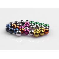 Small Strong Colorful Ball Neodymium Magnets Stable Consistency N35M - N50M Manufactures