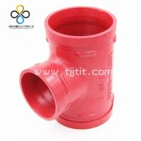 CCC FM UL CE Good quality Reducing Tee 130R  Ductile iron grooved fittings Manufactures