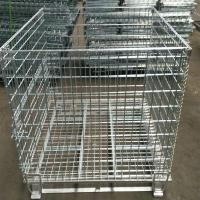 China Heavy Duty 50mm Galvanized Welded Metal Storage Cages for Transportation on sale