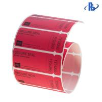 Tamper Evident VOID Labels , Partial Transfer Security Barcode Labels Manufactures