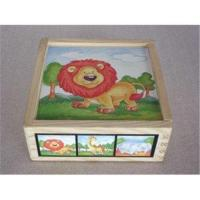 Animal Jigsaw Puzzle Rubber Childrens Wooden Building Blocks for 6 Months Baby Manufactures