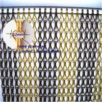 High quality Aluminium Chain Door Fly Screens Manufactures