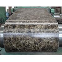 Quality Marble Grain PVC Film Laminated Metal Sheet Pre - Painted For Office Door for sale