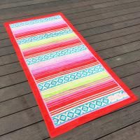 Over Sized Jacquard Cotton Promotional Beach Towels With 38 X 68 Inch
