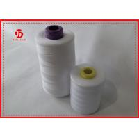 Raw White / Green Strong Polyester Spun Sewing Thread , Polyester Quilting Thread Manufactures