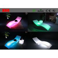 Pool Side LED Lounge Chair PE Glowing Chaise With Rechargeable Lithium Battery Manufactures