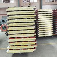 exterior building 50mm glass wool sandwich corrugated roof panel with 35kg Manufactures