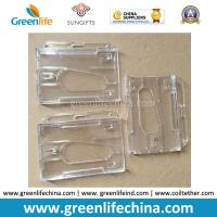 Double Cards Type Plastic Transparent Clear ID Business Card Badge Holders Ready for Lanyard Manufactures