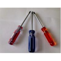 Non - Toxic Hexagonal Magnetic Double Color Transparent CA Cellulose Screwdriver Manufactures