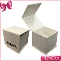 China Special Paper White Black Leatherette Hinged Folding Foldable Jewellery Jewelry Box with  Sponge Pad on sale