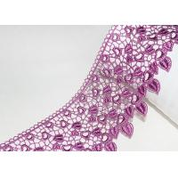 Pink Guipure Embroidered Lace Trims With Heart-shaped African Cord Lace Design Manufactures
