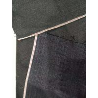 China Selvage Corduroy Cotton Navy Denim Fabric  Soft Touch 13.2oz W2992-2 68*41 Density on sale