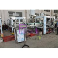 Pneumatic Capping Type Bottled Water Filling Machine With Adhesive Labeling Machine Manufactures