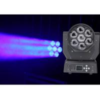 Buy cheap Full Color LED Moving Head DJ Stage Light 22 / 50 CH DMX512 7 * 20W LED Spot Lamp from wholesalers