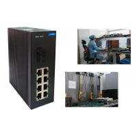 Stable Industrial Level 10 port Network Switch  8 + 1 port  fast Ethernet Switch 0.775Kg 802.3x Manufactures