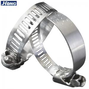 American / German Type Stainless Steel Hose Clamps Pipe Metal Tie Higher Torque Manufactures